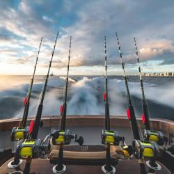 הפלגת דייג ערב בשקיעה