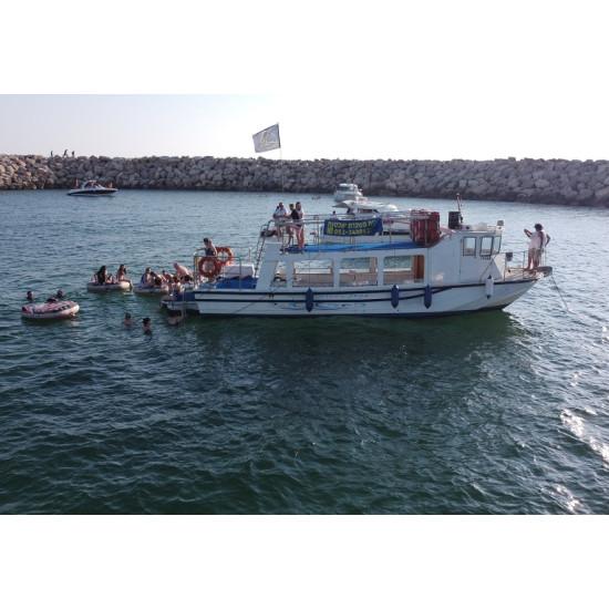 השכרת יאכטה ספינת המסיבות עד 40 משתתפים